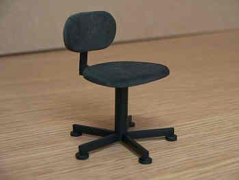 Swivel Chair in black - O16 BLACK