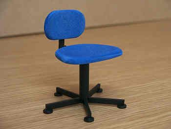 Swivel Chair in  blue