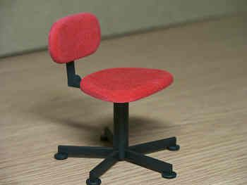 Swivel Chair in  red