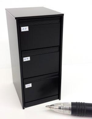 033B Black Filing Cabinet