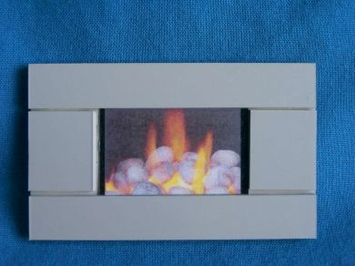 Wall Hung Pebble Effect Fire