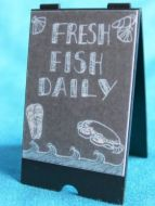 A  Board   Fishmongers Black Board - S78
