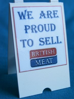 Butcher's Quality British Meat - 'A' Board - S79