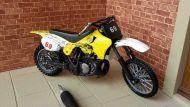 Motorbike - Yellow and White Trail Bike