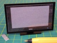 Plasma TV, Black on stand - M186