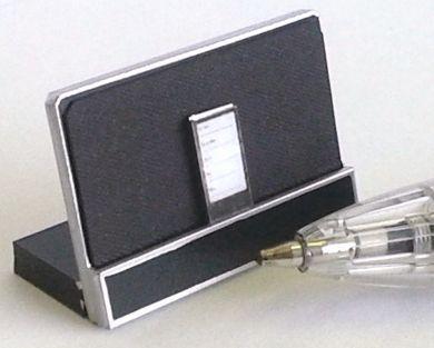 Black Speaker Dock with Smart Phone - M230