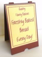 Bakers 'A' Board - Fresh Bread