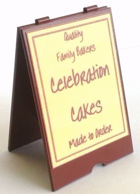 Bakers 'A' Board for Celebration Cakes - S118