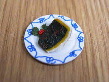 Christmas Cake slice