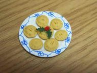 Mince Pies on serving plate - C9