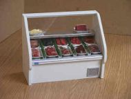 Chiller Cabinet filled with a selection of Meat on trays - CH1M