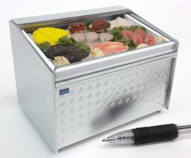 CH20Fish 'Stainless Steel' Display Chiller with Fish on Ice