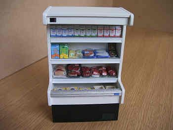 Upright Chill Cabinet with foods