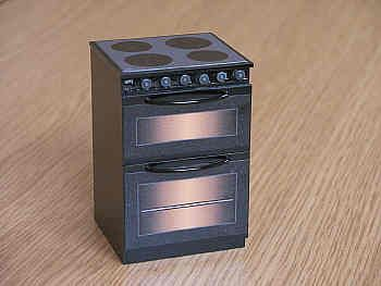 Electric Cooker with ceramic effect hob