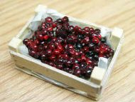 Cherries in wood box