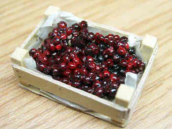 Cherries in wood box - F107