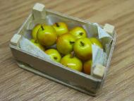 Coxs Apples in wood box - F11