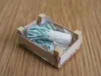 Leeks in wood box - F136