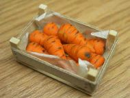 Carrots in wood box