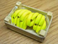 Bananas in wood box - F140