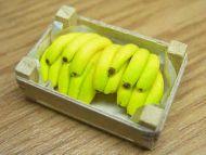 Bananas in wood box