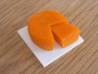 Red Leicester Cheese on board - F158