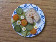 Salmon Salad on a plate - F172