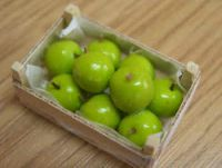 Granny Smith Apples in wood box - F178