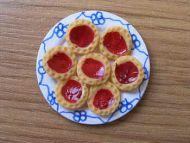 Jam Tarts on plate - F235