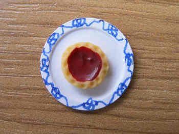 Jam Tart on plate