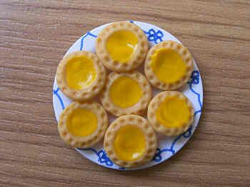 Lemon Tarts on a plate