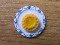 Lemon Tart on plate - F238