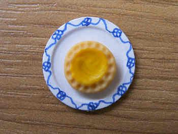 Lemon Tart on plate