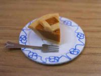 Treacle Tart slice on plate