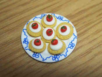 Strawberry Tarts on plate
