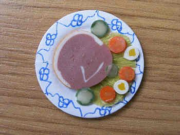 Ham Salad on plate - F27H