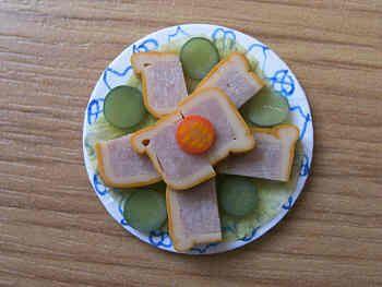 Pork Pie slices on plate