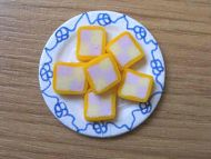 Battenberg Cake slices on plate