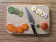 Salad items on Chopping Board - F43