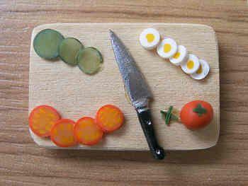 Salad items on Chopping Board