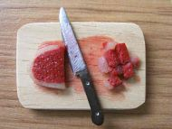 Raw Meat on chopping board - F44