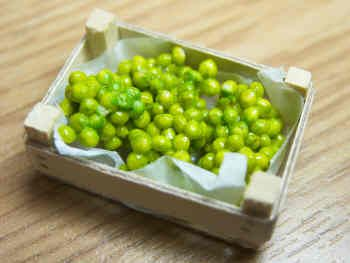 Green Grapes in wood box