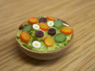 Salad in Wood Salad Bowl - F83
