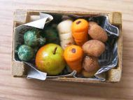 Mixed Vegetables in wood box - F96
