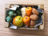 Mixed Vegetables in wood box