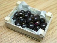 Plums in wood box - F98