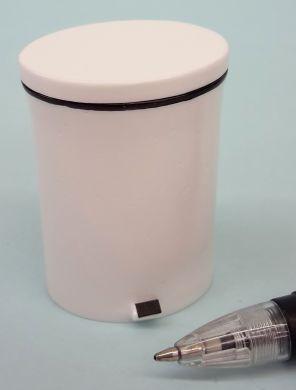White Oval Kitchen Pedal Bin - H72W