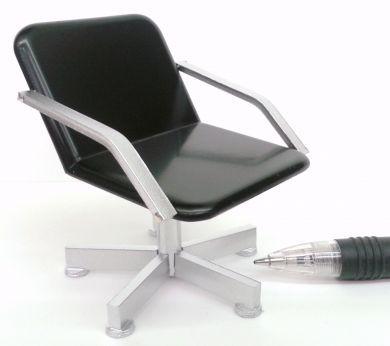 Back Wash Chair - Black Seat/Silver Frame - HD5B/S