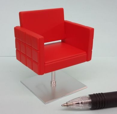 Stylist Chair - Square in Red - HD63