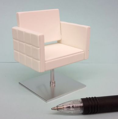 HD63W White Square Stylist Chair